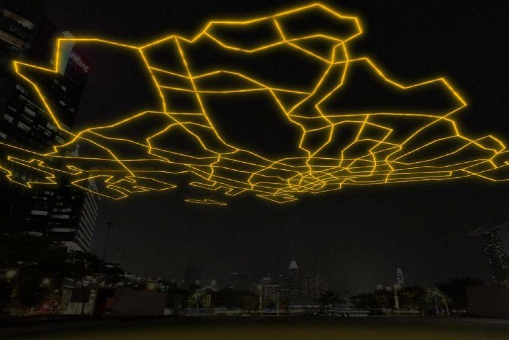 Gambaran artis bagi 'City Gazing Singapore'. FOTO: I LIGHT SINGAPORE