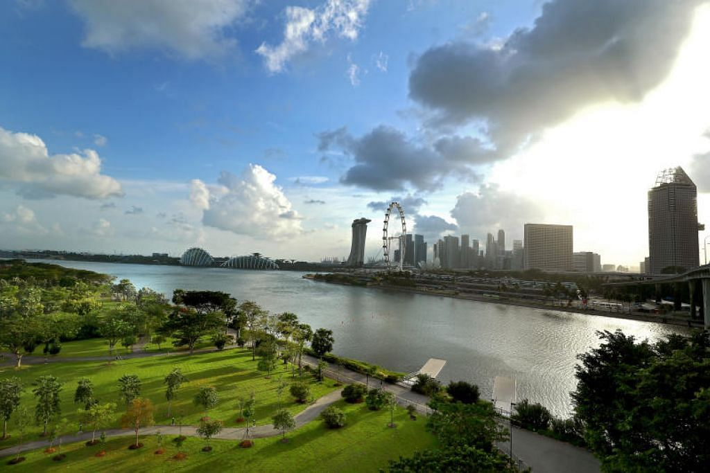 Peringatan Pengasas yang dirancang akan terletak di tapak seluas lima hektar di Taman Bay East. FOTO: LIANHE ZAOBAO