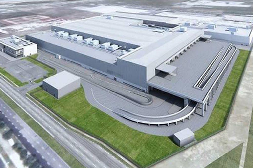 BAKAL DIBINA DI SINI: Lakaran artis kilang kereta elektrik yang bakal dibangunkan syarikat Dyson di Singapura dengan kereta elektrik syarikat itu dijangka dilancarkan pada 2021. - Foto DYSON