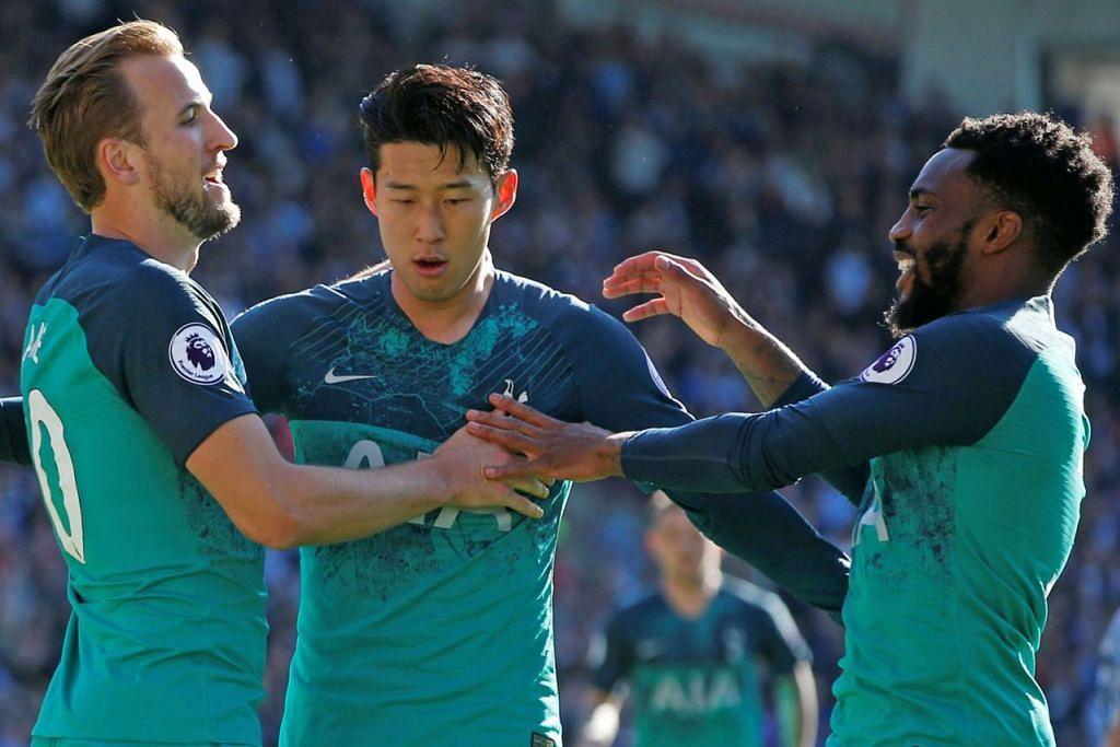 CABARAN BESAR: Selepas meraih empat kemenangan berturut-turut, Spurs berharap dapat menjadi pasukan pertama yang menewaskan City musim ini. - Foto REUTERS