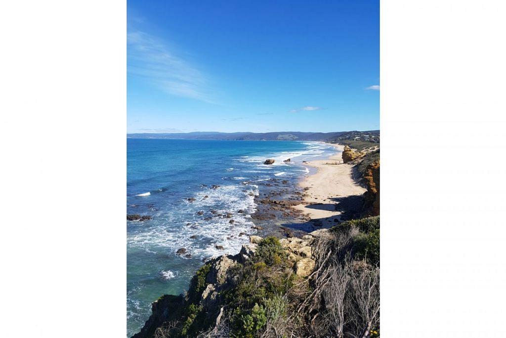 NAN INDAH: Beginilah pemandangan yang boleh dijangkakan pengunjung sepanjang pemanduan menyusuri Great Ocean Road. - Foto ihsan MARDIANA RAHMAD