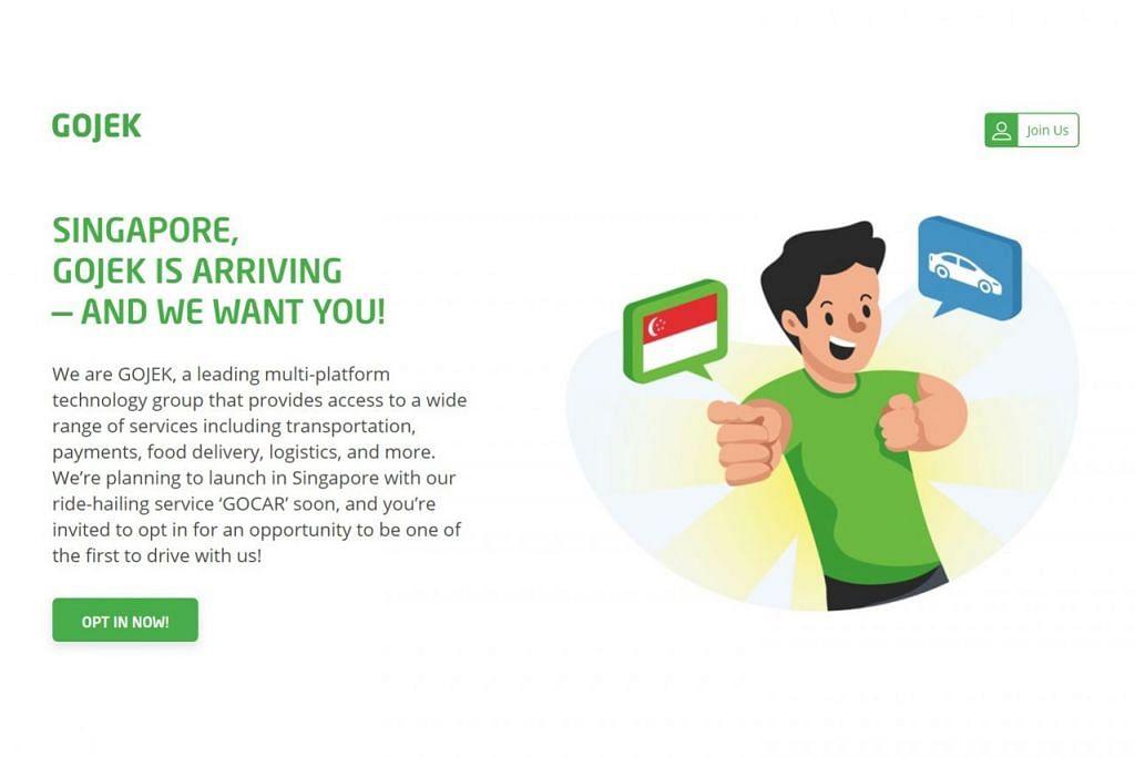 PORTAL GO-JEK: Portal ini merupakan satu-satunya saluran siber rasmi yang membolehkan pemandu mendaftar awal bagi menyertai Go-Jek. - Foto WANBAO