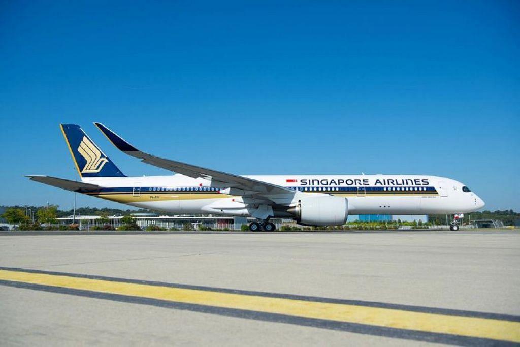 KE SEATTLE TANPA HENTI: Pesawat Airbus A350-900 akan digunakan bagi penerbangan tanpa henti Singapura-Seattle menjelang 2019. FOTO: SIA