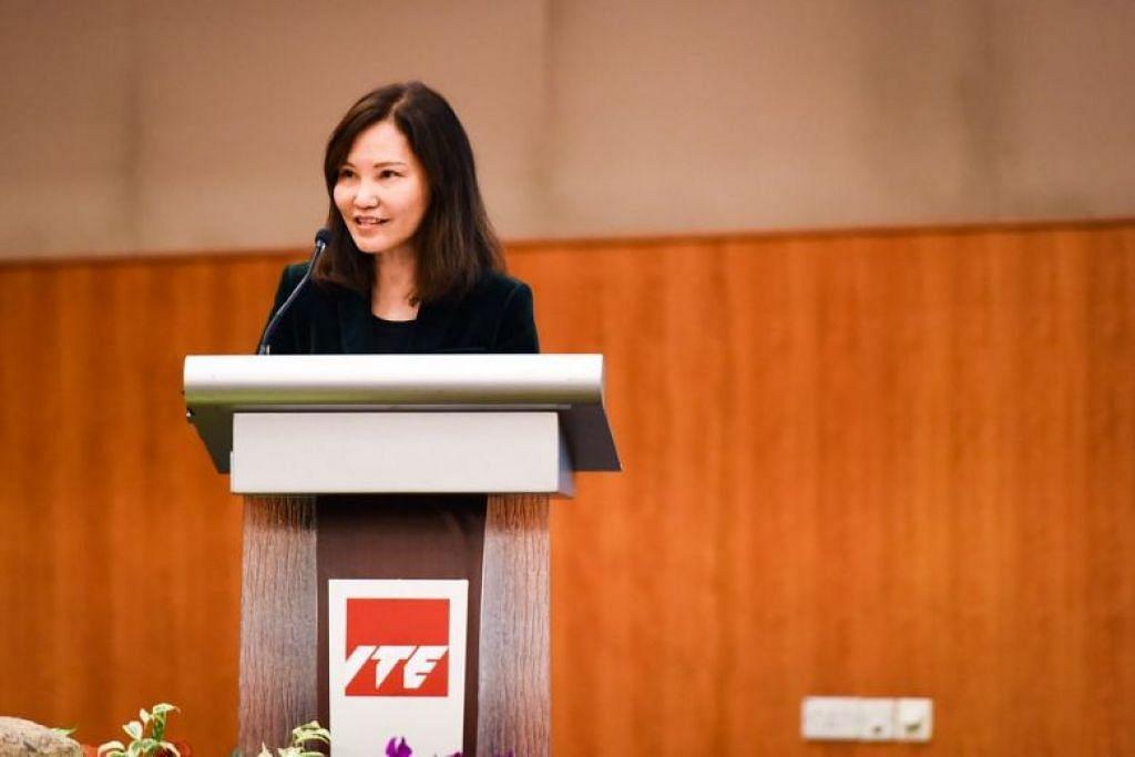 Cik Low berkata bahawa kursus diploma yang ditawarkan itu merupakan satu lagi pilihan bagi lulusan ITE. Foto: ST