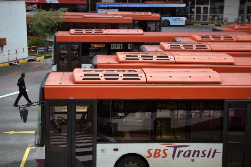 300 bas yang melalui kawasan Bukit Merah akan menawarkan Wi-Fi percuma menjelang Februari depan. FOTO: ST FILE
