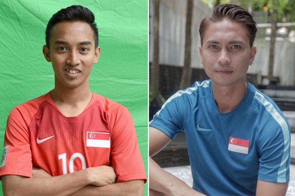 MASALAH KECEDERAAN: Faris (kanan) menghadapi kecederaan hamstring sementara Shahril (kanan sekali) mengalami kecederaan bahu yang tampak serius. - Foto-foto fail