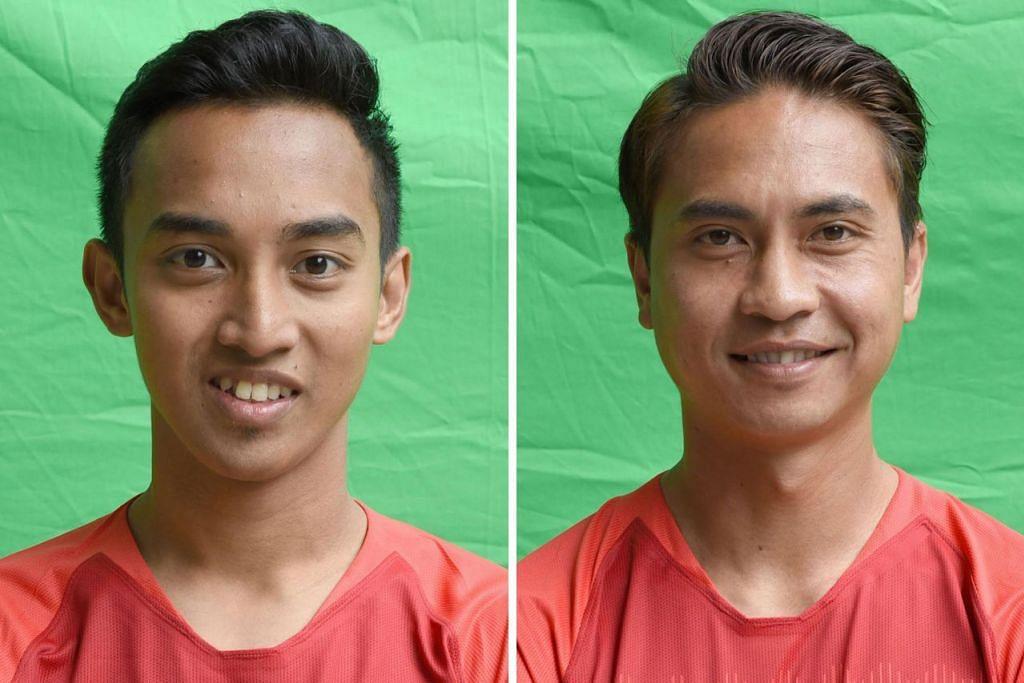 CEDERA: Faris Ramli (kiri) dan Shahril Ishak mengalami kecederaan semasa bermain dalam perlawanan menentang Filipina.
