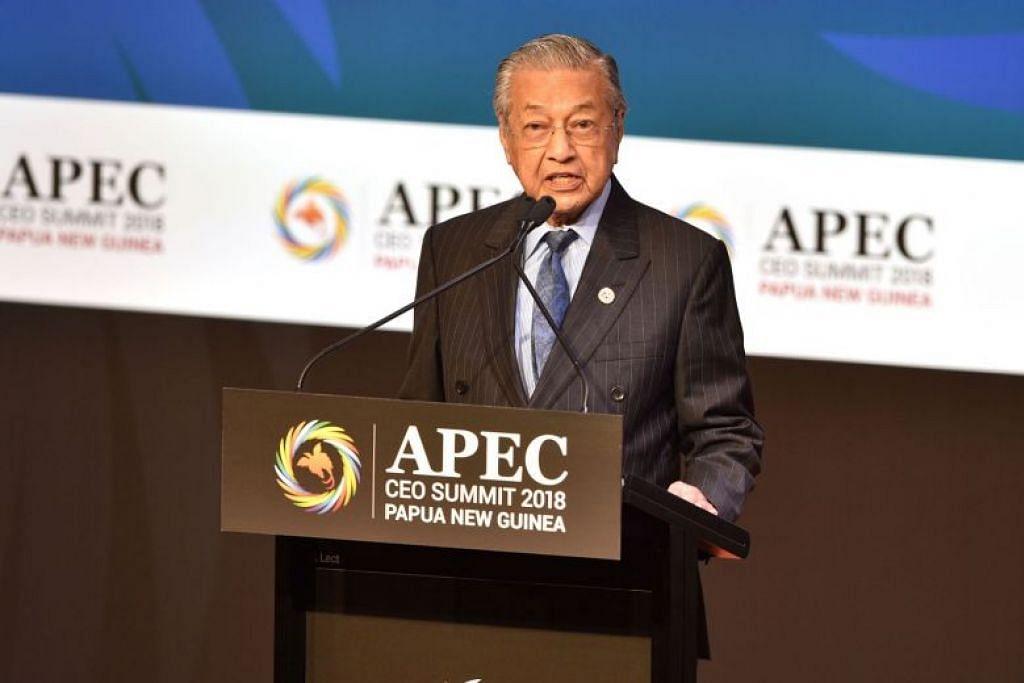 INGIN PERSAINGAN LEBIH SETARA: Perdana Menteri Malaysia Dr Mahathir Mohamad menggesa medan perdagangan lebih setara antara negara kaya dengan yang sedang membangun.