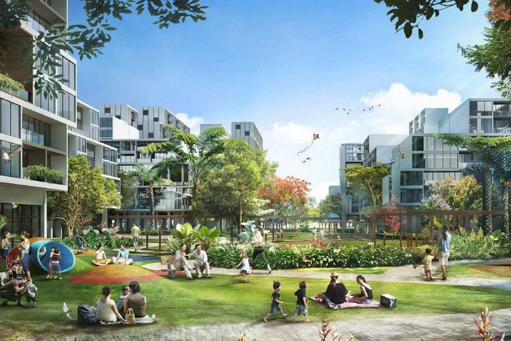 GARDEN DISTRICT: Antara keistimewaan Garden District ialah Kolam Tengah dan Taman Sentral. Daerah ini adalah suaka bandar yang baru di kawasan barat Tengah. - Foto HDB