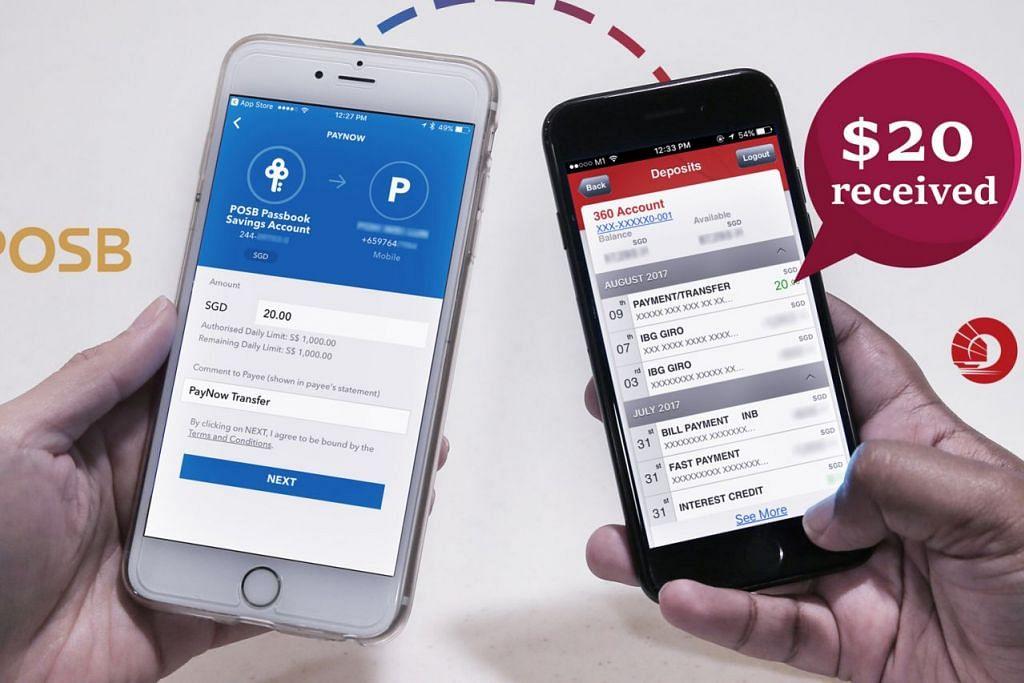 MUDAH DAN CEPAT: Melalui PayNow, pengguna dengan akaun bank berlainan boleh dengan pantas memindahkan wang kepada satu sama lain melalui nombor telefon bimbit mereka. - Foto MCI