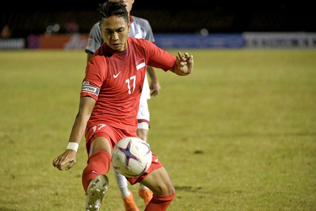 TIADA NASIB: Shahril Ishak tidak akan membuat sebarang penampilan sepanjang Piala AFF Suzuki kali ini akibat kecederaan yang dialami. - Foto BH oleh MARK CHEONG