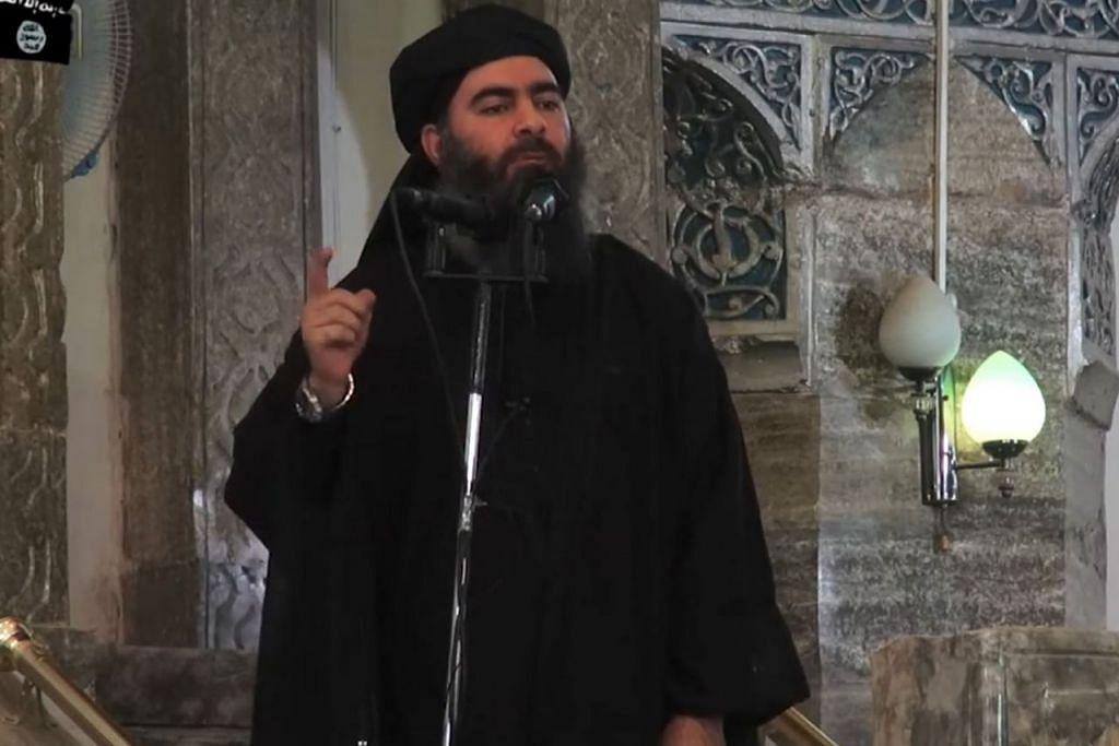 AJARAN PESONG: Ketua IS Abu Bakar al-Baghdadi dalam mesej terbarunya pada Ogos lalu cuba meyakinkan penyokongnya bahawa kekalahan mereka dalam medan pertempuran dan kehilangan nyawa, harta benda dan tanah air merupakan ketentuan Allah. - Foto fail