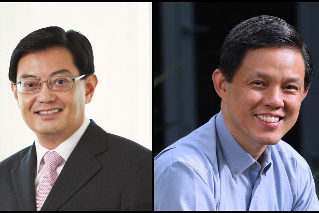 Encik Heng Swee Keat (kiri) dan Encik Chan Chun Sing.