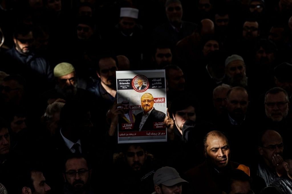 Upacara simbolik 'pengebumian' Khashoggi