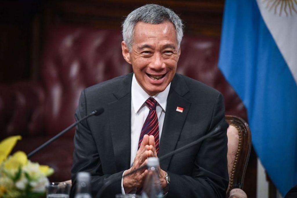 PM Lee kini berada di Argentina bagi menghadiri siang puncak G-20.