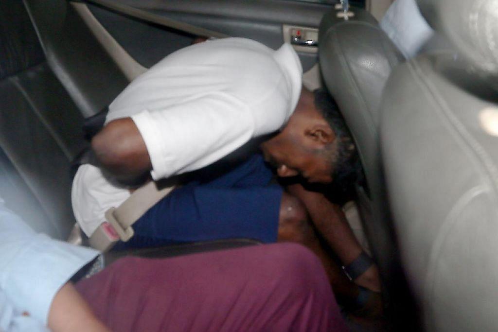 NAIK RADANG: Jayselan N. Chandrasegar, dijatuhi hukuman di mahkamah kerana menikam isterinya, Cik Mayuri Krishnakumar, yang hamil dengan menggunakan pisau sepanjang 10 sentimer dalam kejadian di Lorong 16 Geylang pada 30 Disember 2017. - Foto fail