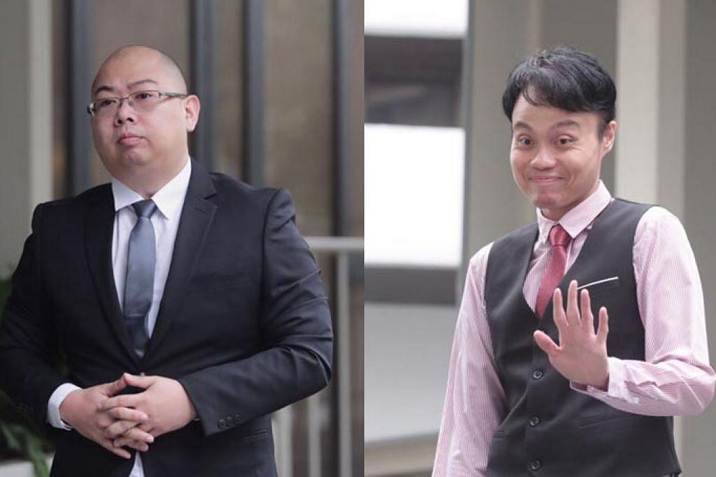 DIDAKWA DI MAHKAMAH: Xu Yuan Chen (kiri) dan Daniel De Costa Augustin masing-masing menghadapi satu tuduhan fitnah jenayah. Augustin juga menghadapi tuduhan di bawah Akta Penyalahgunaan Komputer.