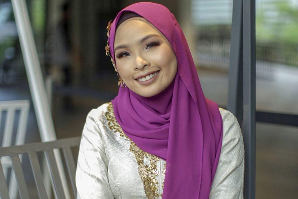 PERLU AGRESIF: Cik Nur Nafilah daripada kumpulan dikir barat SKD pernah dipanggil penonton 'Siti Nordiana' kerana wajahnya yang mirip penyanyi Malaysia itu. - Foto BH oleh IQBAL FAIZAL
