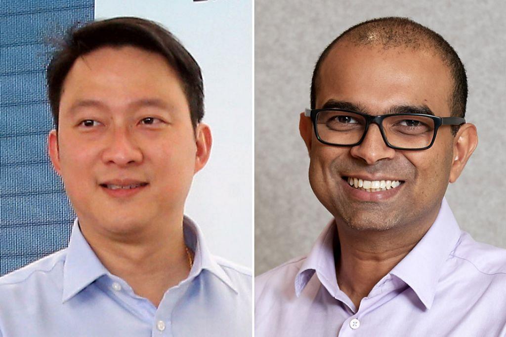 DISERAH PERANAN LEBIH BESAR: Dr Lam (kiri) dan Dr Janil akan diserahkan tanggungjawab lebih besar, sejajar dengan rancangan parti pemerintah untuk membolehkan pemimpin generasi keempat menimba pengalaman penting dalam pemerintah. - Foto-foto fail