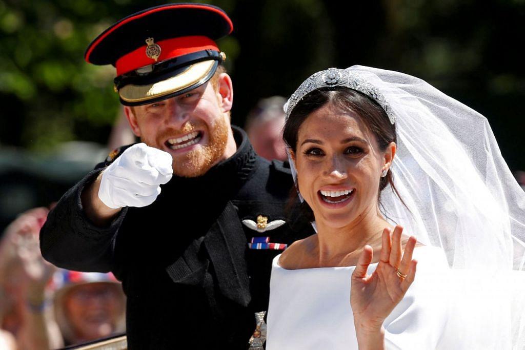 PERKAHWINAN DIRAJA: Putera Harry bagi Britain mengahwini pelakon Amerika berketurunan kacukan Meghan Markle. - Foto fail AFP
