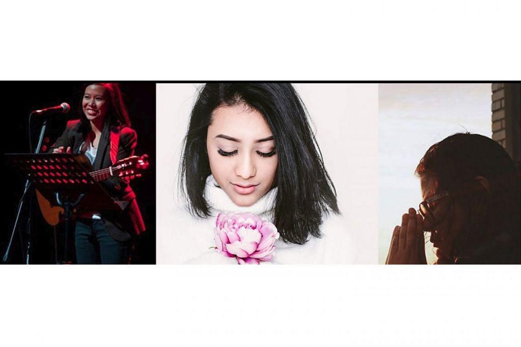 LUAHAN RASA TIGA WANITA: Persembahan 'Echo: Chapter II' lusa mengetengahkan sinergi irama pemuzik wanita, (dari kiri) Irena Taib, Amni Musfirah dan Isabel Wongsosubakti (lebih dikenali sebagai Bebel W.S.). - Foto ESPLANADE