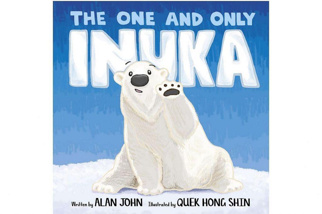 HANYA KAU YANG SATU: Buku bertajuk The One And Only Inuka, memperingati beruang kutub pertama yang lahir di tropika, dicintai oleh ramai warga Singapura dan mati dalam usia 27 tahun pada awal tahun ini. - Foto STRAITS TIMES PRESS