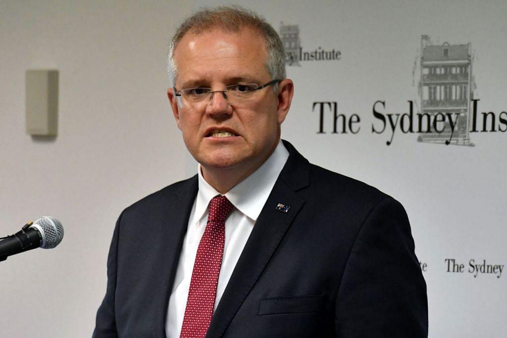 TIDAK MAHU BERGANJAK: Perdana Menteri Scott Morrison bagaimanapun berkata pemindahan Kedutaan Australia dari Tel Aviv tidak akan dilakukan sehingga penyelesaian damai tidak dicapai. - Foto EPA-EFE