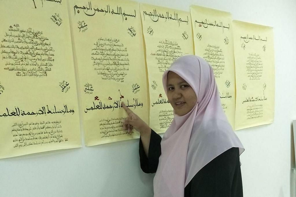 KEMBANGKAN SENI: Cik Nur Fathiah Abdussamad berharap dapat menganjurkan lebih banyak program daripada peringkat kanak-kanak seperti pembelajaran seni di Jepun. - Foto BH oleh SUHAIMI MOHSEN