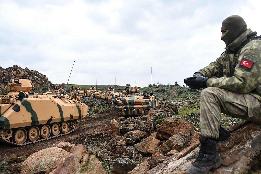 Tentera dan kereta kebal Turkey masuk wilayah Syria