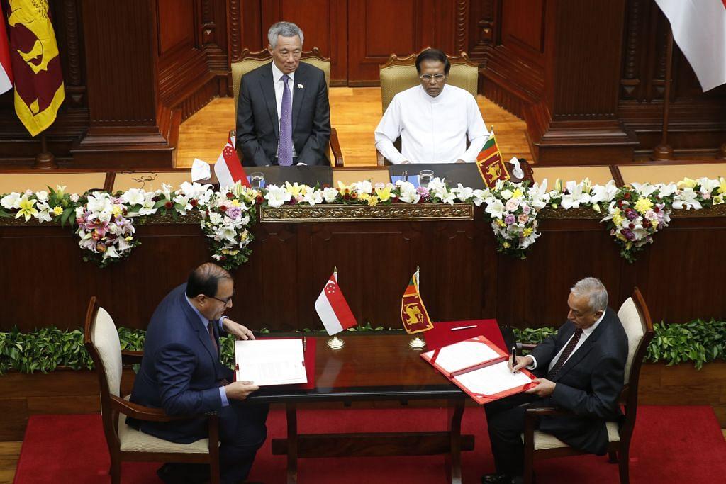 S'pura, Sri Lanka buka laluan dagang lebih luas menerusi FTA SEKILAS PERJANJIAN