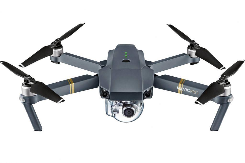 Estet dron Singapura pertama di One-north