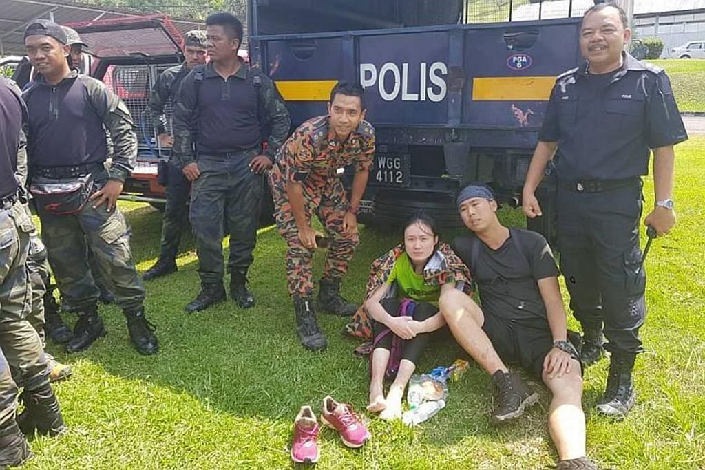Dua pendaki S'pura hilang di Gunung Pulai ditemui selamat