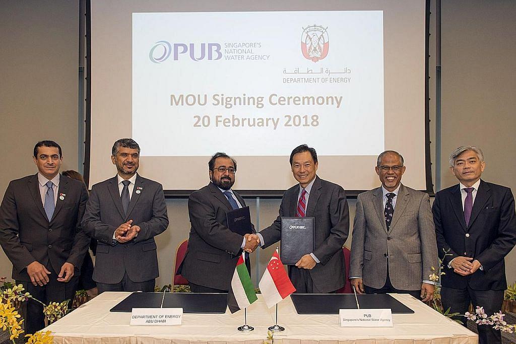 9 pertubuhan S'pura bekerjasama dengan Abu Dhabi dalam bidang perbekalan