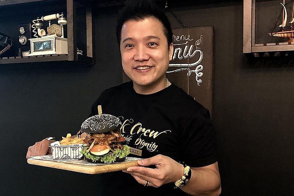 Burger istimewa, susu kocak bertih jagung sentuhan S'pura
