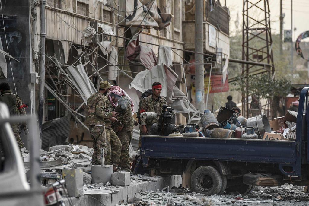 PERANG SAUDARA DI SYRIA Pasukan pimpinan Turkey kuasai Afrin, usir militia Kurdi