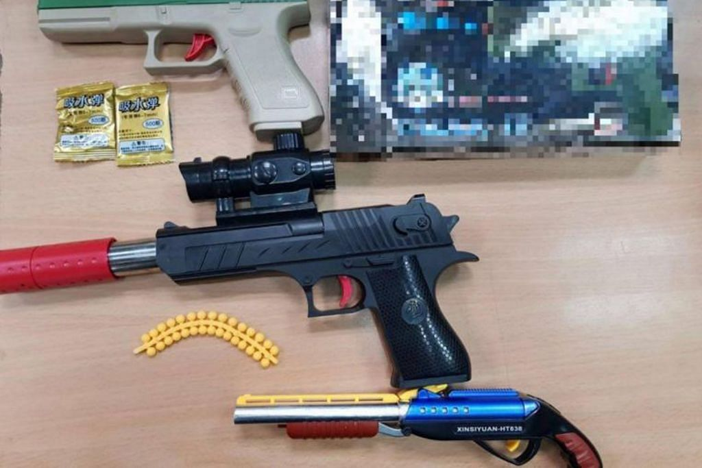 ICA rampas tiga pistol angin, tiga peket palet