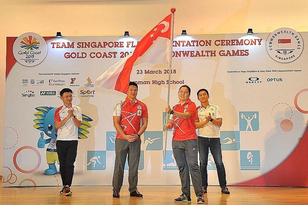 Penembak dipilih pembawa bendera kontinjen Singapura