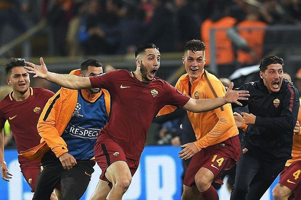 Roma raikan 'keajaiban' singkirkan Barcelona