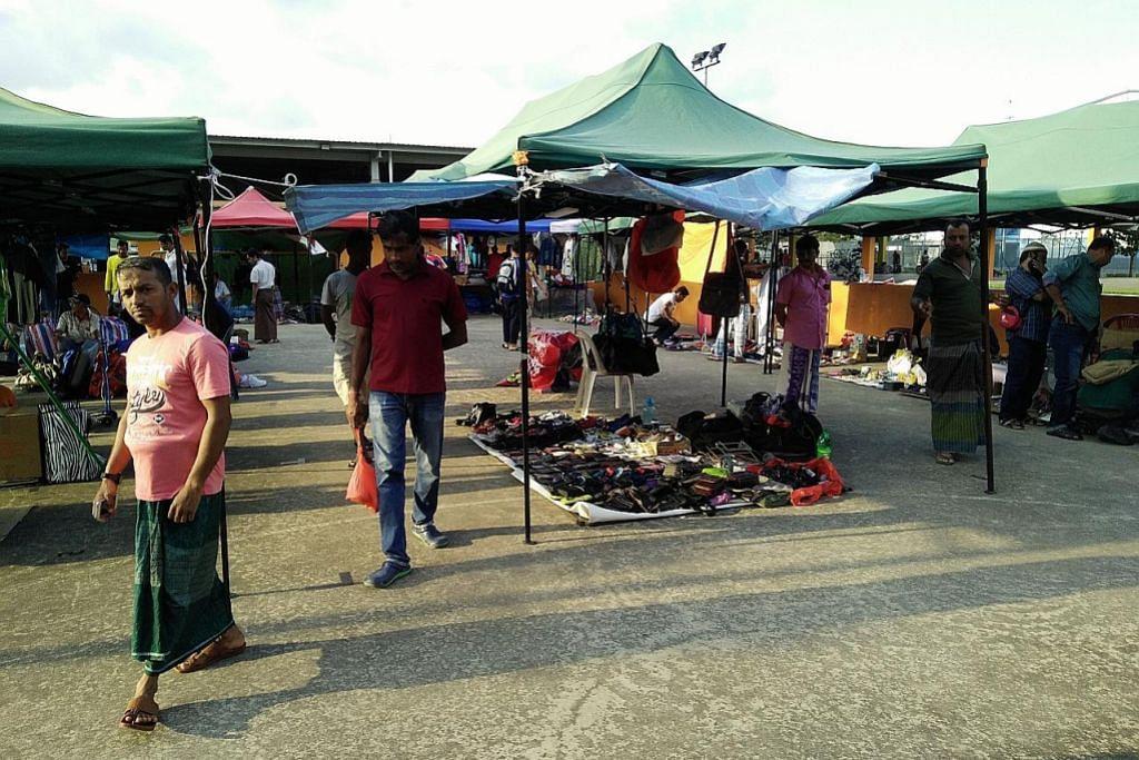 Pasar lambak 'Sungei Road' di Woodlands dapat sambutan pekerja asing