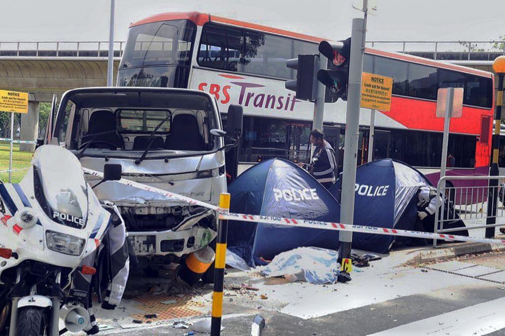 Tiga pejalan kaki maut dilanggar lori dekat MRT Yio Chu Kang