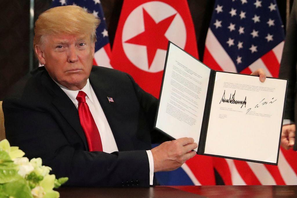 SIDANG PUNCAK AMERIKA SYARIKAT-KOREA UTARA Kim komited hapus nuklear, Trump jamin keselamatan Pyongyang