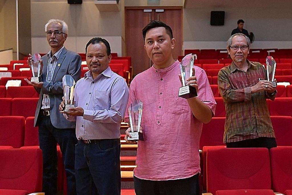 Empat penulis Melayu dipilih antara 18 pemenang Hadiah Sastera S'pura