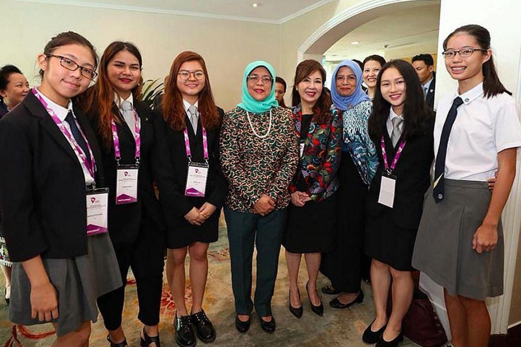 Presiden Halimah: Asean harus manfaatkan potensi wanita