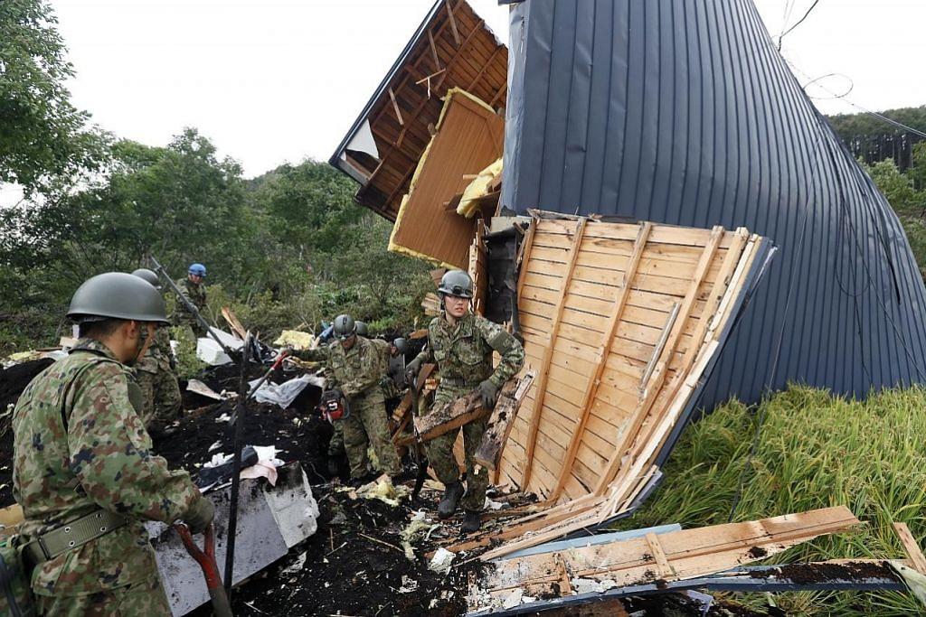 Angka korban gempa Hokkaido meningkat seganda