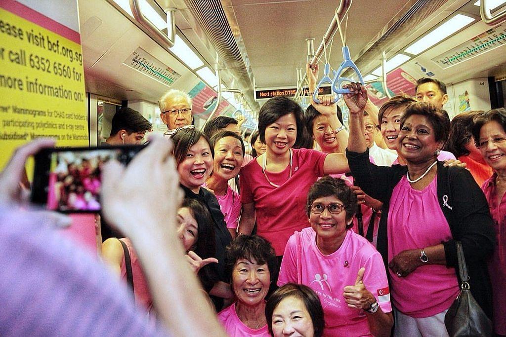 Kereta api merah jambu sebar mesej barah