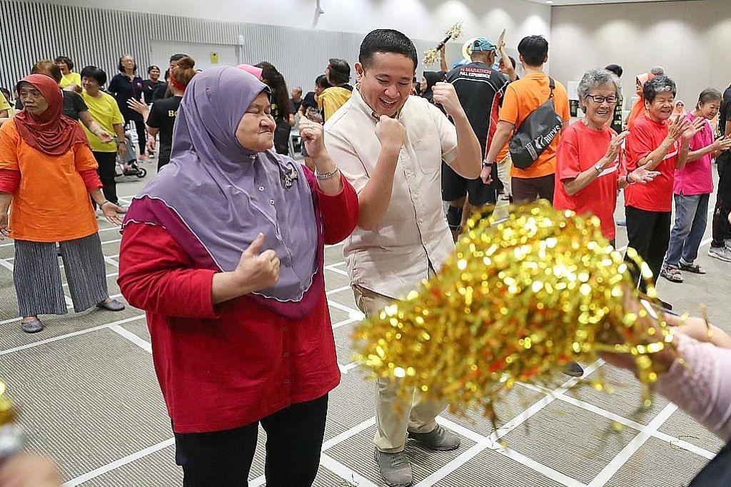Amrin sertai Hari Sukan warga emas rumah kebajikan Sunlove