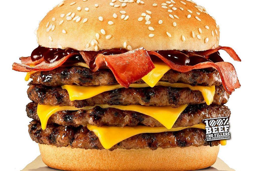 Hidangan burger untuk yang 'berselera besar'
