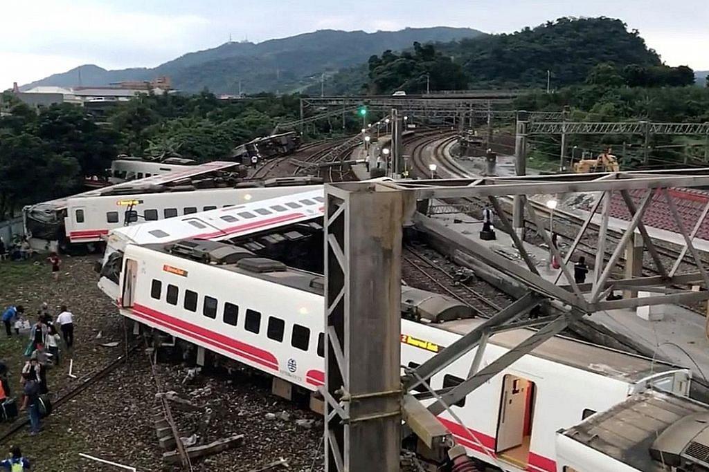 Punca nahas kereta api di Taiwan disiasat