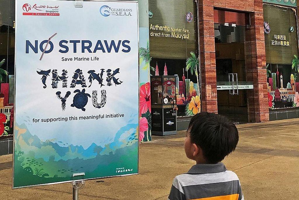 RWS tidak lagi sedia straw plastik di tempat makanan, pusat tarikan