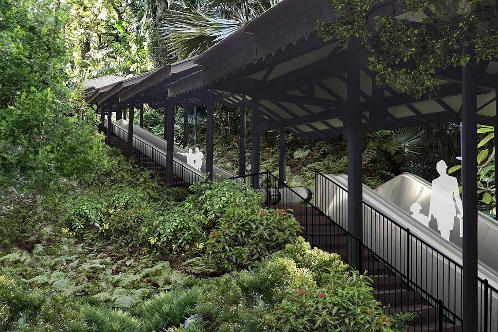 Tarikan baru papar keindahan Taman Fort Canning siap Jun depan